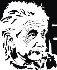 Black and white vector portrait of the famous German-born theoretical physicist Albert Einstein. Stencil Art, Stencils, Real Zombies, Cartoon Coloring Pages, Vector Portrait, Scroll Saw Patterns, Vinyl Wall Stickers, Albert Einstein, Coloring For Kids