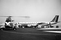 On February 15, 1961, B707-329 OO-SJB crashed before landing in Brussels. Plane operated SN548 New-York-Brussels. The airplane's landing gear was not down, and it is probable that the plane hit a high tension line about four miles from the airport's runway, in Berg.. Near by residents said the plane was making more noise than usual and was much lower. There were no survivors.  Here at Brussels National Airport. January 1960.