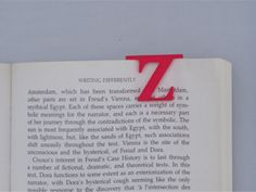 Bookmark Monogram. Initial / Letter Z  in Red Strong & Flexible Polished