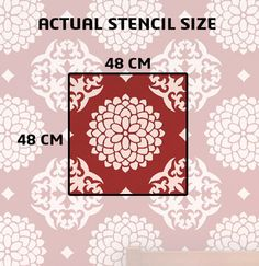 Reusable wall stencil for wall reusable pattern stencil by DecorZe