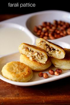 farali pattice recipe for navratri fasting - crisp potato patties stuffed with a sweet-tangy coconut-dry fruits stuffing.