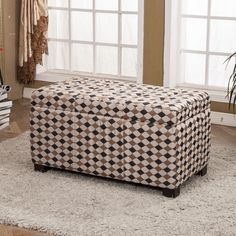 Classic Upholstered Storage Entryway Bench