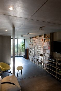 Image 4 of 31 from gallery of House extension / Christophe Nogry. Photograph by Stéphane Chalmeau Cork Panels, Shipping Container Homes, House Extensions, Ground Floor, Open House, Relax, Flooring, Architecture, Building