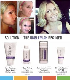 Unblemish Regimen.... So long Acne!!!!  PM me and get started on healthy skin and more confidence!