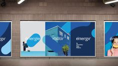 New Name, Logo, and Identity for Énergir by Cossette Web Banner Design, Brand Identity Design, Corporate Design, Hoarding Design, Cossette, Event Branding, Identity Branding, Corporate Identity, Brochure Layout