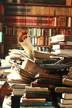 Wonderful pile of books and papers...