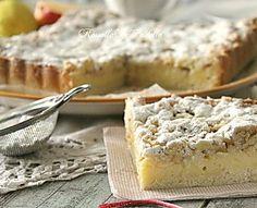 Sbriciolata con crema pasticcera, mele e mandorle | RossellaInPadella