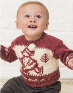 Ski sweater-knitted sweater for baby