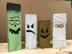 Halloween Veranda, Dulceros Halloween, Fröhliches Halloween, Rustic Halloween, Halloween Porch Decorations, Halloween Painting, Halloween Pallet Signs, Fall Wood Crafts, Halloween Arts And Crafts