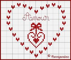 un solo color Small Cross Stitch, Cross Stitch Heart, Cross Stitch Alphabet, Cross Stitch Designs, Cross Stitch Patterns, Cross Stitching, Cross Stitch Embroidery, Embroidery Patterns, Weaving Patterns