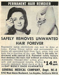 1968 ad: Safely Remove Hair