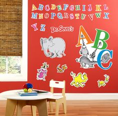 Dr. Seuss ABC - Giant Wall Decals from BirthdayExpress.com
