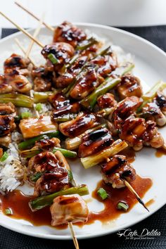 Easy Chicken Yakitori | http://cafedelites.com