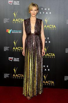 Cate Blanchett en robe Givenchy de la collection printemps 2014 aux AACTA International Awards à Los Angeles