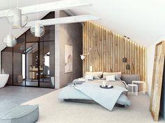 Une suite parentale bien aménagée sous les combles... #comble #chambre #sdb #lit #maison #inspiration http://www.m-habitat.fr/isolation/isolation-du-toit/isoler-vos-combles-pour-1-detail-du-programme-mis-en-place-par-l-etat-4110_A