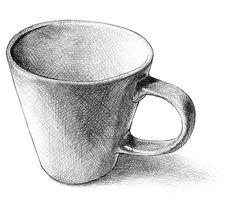 Drawing Cup, Shading Drawing, Pencil Sketch Drawing, Object Drawing, Pencil Art Drawings, Cool Art Drawings, Realistic Drawings, Drawing Skills, Art Drawings Sketches