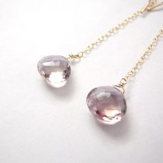 Long Chain Earrings Ametrine - 古風美