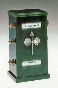 Siberian jade desk calendar