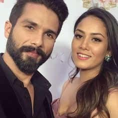 #Selfietime: #ShahidKapoor and wife #MiraRajput at Event ‪#ComingTrailer #RelationshipGoal #misha #Goal #fashion #HELLOHallOfFame‬ #selfie