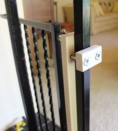Custom Wrought Iron Baby Gate Attachment
