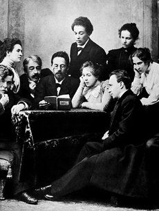 "Anton Chekhov reading ""The Seagull to the actors of the Moscow Art Theatre"