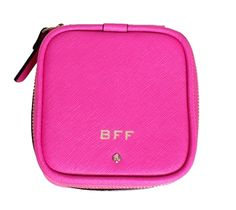 Kate Spade New York 'BFF' Small Grayden Jewelry Case, Black   you can't buy love. but you can shower the ones you love--bridesmaids and BFFS included--with pretty presents (at pretty friendly prices). with this idea in mind, our designers dreamed up this roomy zip around jewelry box out of durable saffiano leather as a safekeeper for everything shiny