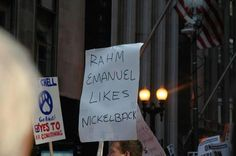 The best protest sign seen at the Chicago Teachers Union strike Chicago Teachers Strike, Chicago Teachers Union, Union Strike, Mayor Of Chicago, Protest Signs, Protest Art, Chicago Photos, What Do You Mean, Teacher Humor
