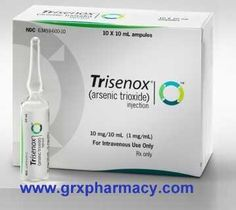 Trisenox (Arsenic Trioxide Injection)    Generic for Trisenox (Arsenic Trioxide) is a cancer medication used to treat a type of cancer called acute promyelocytic leukemia or APL (blood and bone marrow cancer). Arsenic Trioxide belongs to a class of medications called anti-neoplastics. This injection medication works by slowing the growth of cancer cells in the body. $0.10 USD