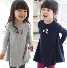 2014 spring Korean Girls Cute long sleeve dresses,children dresses US $12.77