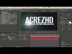 After Effects Tutorial: Basic Text & Knoll Light Factory Animation. Part 1. by