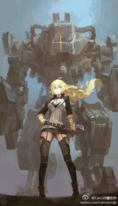 I like the scaling of the mech vs yang here, but mostly this is just to add to my ever growing collection of splash art inspiration