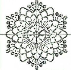 Transcendent Crochet a Solid Granny Square Ideas. Inconceivable Crochet a Solid Granny Square Ideas. Crochet Snowflake Pattern, Crochet Doily Diagram, Crochet Stars, Crochet Snowflakes, Granny Square Crochet Pattern, Crochet Flower Patterns, Thread Crochet, Crochet Granny, Crochet Doilies
