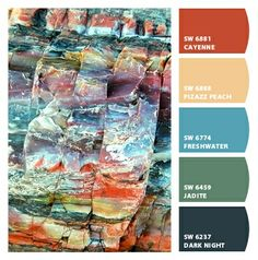 Paint colors from Chip It! by Sherwin-Williams | Geologist's Rainbow - Frank Townsley