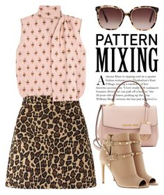 """""""Head-to-Toe Pattern Mixing 2267"""" by boxthoughts ❤ liked on Polyvore featuring Valentino, Miss Selfridge, Michael Kors, Oscar de la Renta and patternmixing"""