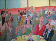 Fiesta y risas , acrylic on canvas, 130 x 95 cm, 2011 Price of original painting: inquire