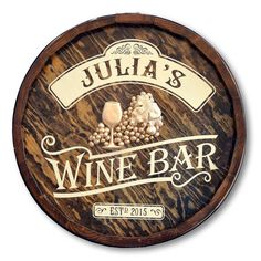 Vintage Wine Discount Wine And Spirits Wine Signs, Pub Signs, Bar A Vin, Wine In The Woods, Wine Names, Wine Glass Rack, Wine Rack, Vintage Wine, Vintage Ideas