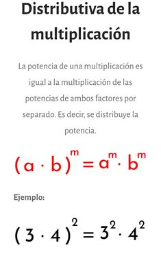Descubre más propiedades de la #potenciación en el sitio web Algebra, Class 12 Maths, Teaching Multiplication, Spelling Rules, Math Formulas, Math About Me, Math Notebooks, Play To Learn, Study Motivation