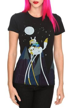 Adventure Time Fionna & Cake Night Ride Girls T-Shirt - 332599 from Hot Topic. Saved to Epic Wishlist. Adventure Time Shirt, Cool Outfits, Fashion Outfits, Cartoon T Shirts, Casual Cosplay, Geek Chic, Hot Topic, T Shirts For Women, Tees