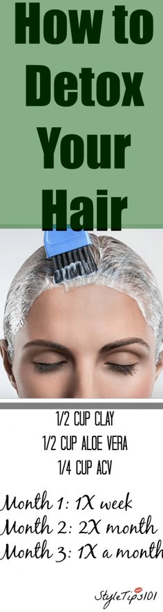 This homemade detox hair mask will detoxify your hair in a flash and all you need are just a few ingredients! Five Minute Hairstyles, Diy Hairstyles, Bad Hair, Hair Day, Natural Hair Tips, Natural Hair Styles, Diy Haircut, Diy Hair Mask, Homemade Detox