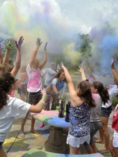 Dayton Dance Conservatory had a color fight with our powder!