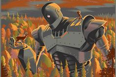 Laurent Durieux Puts an Art Deco Spin on The Iron Giant. I remember this movie'