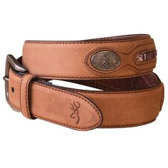Browning Men's Leather Western Belt achieves the classic cowboy look, with zinc alloy Buckmark conches and a camouflage accent. This belt is perfect to dress up your look for a night on the town. Men's Belts, Western Belts, Leather Men, Camouflage, Westerns, Brown, Shopping, Men's, Leather