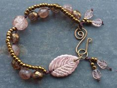 One of a kind Vintage Dusky Rose Leaf by BewitchedHandcrafted