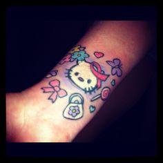 My Hello Kitty Breast Cancer Awareness Tattoo