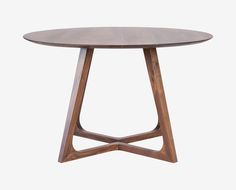 "Cress Dining Table // $999 // 47.00"" dia x 29.00"" H // Solid Walnut // Seats 4"