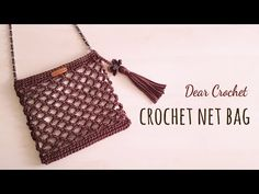How To Crochet A Net bag Free Tutorial - Crochetopedia Crochet Handbags, Crochet Bags, Net Bag, Market Bag, Knitted Bags, Handmade Bags, Crochet Patterns, Pouch, Knitting