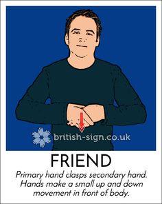 Today's #BritishSignLanguage sign is: FRIEND #MakeAFriendDay