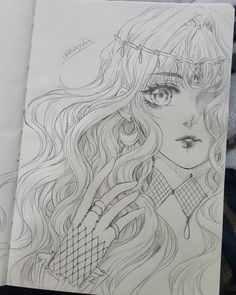 No photo description available. Anime Drawing Books, Anime Character Drawing, Anime Girl Drawings, Dark Art Drawings, Anime Art Girl, Manga Drawing, Manga Art, Cute Drawings, Drawing Sketches