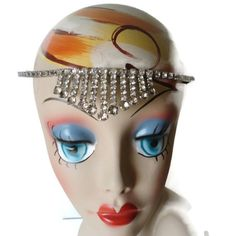 Vintage+Silver+Tone+Rhinestone+Tiara+Head+by+EraAntiquesandFinds