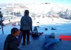 Beech Mountain, NC: the highest town on the East Coast, has a free children's sledding hill!
